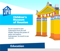 Children's Museum of Houston Home Page Redesign