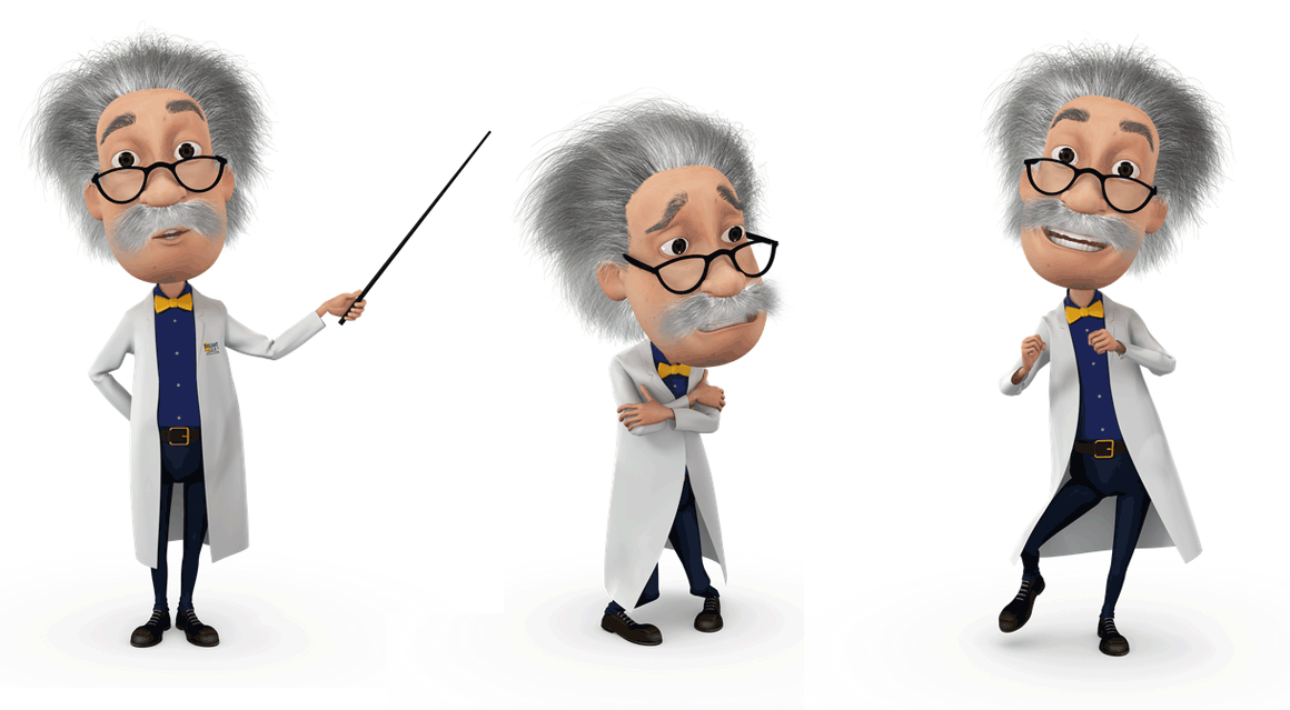 Brilliant Energy Professor Poses