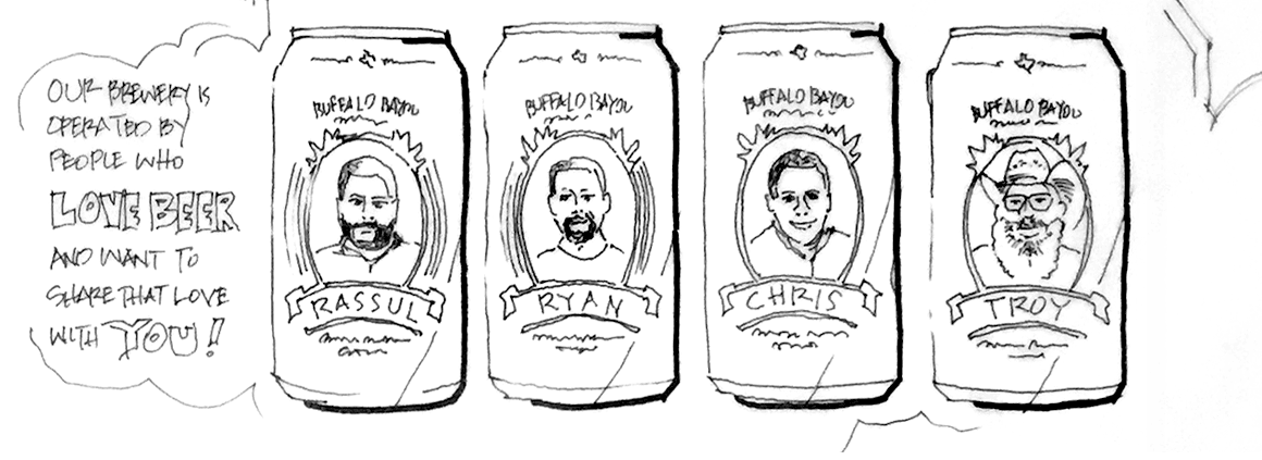 Buffalo Bayou Brewing Company - Concept Sketch 1