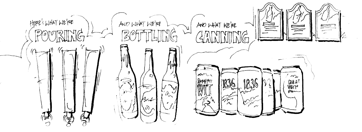 Buffalo Bayou Brewing Company - Concept Sketch 2