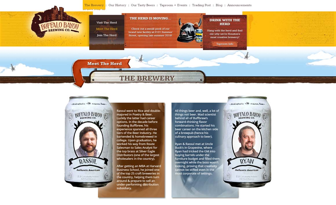 Buffalo Bayou Brewing Company - Team Page