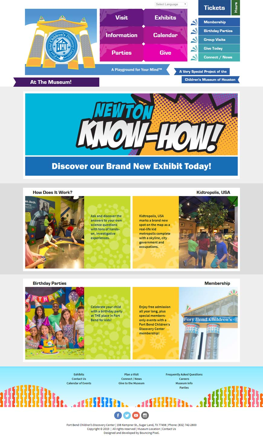 Fort Bend Children's Discovery Center Home Page