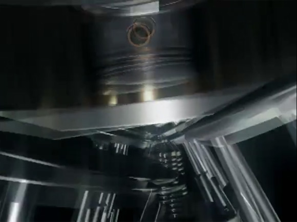 Mitsubishi Engine Flythrough