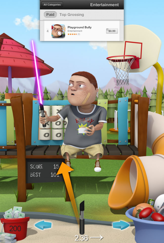 Playground Bully iPhone Game Concept Art