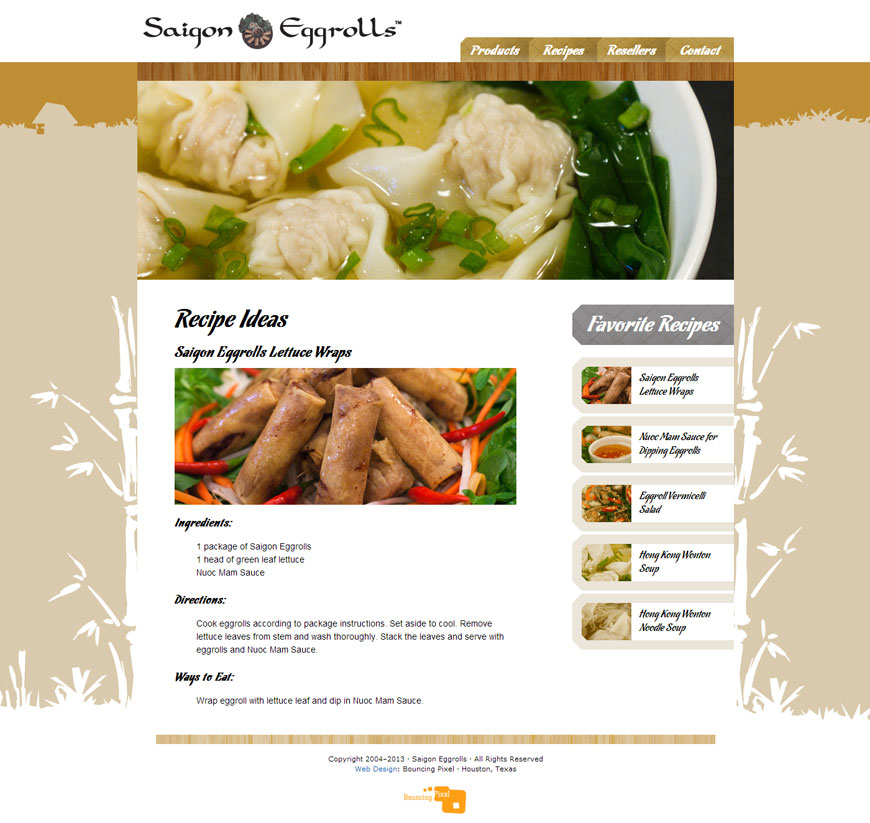 Saigon Eggrolls Website
