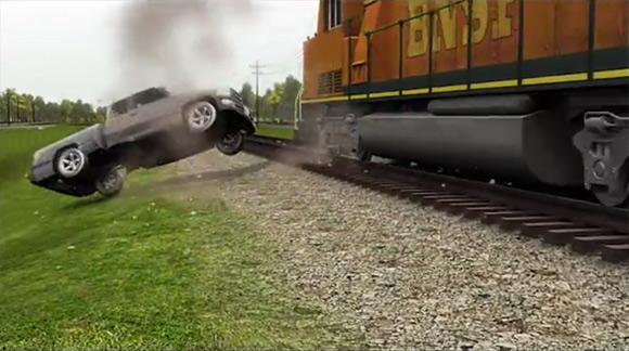 Truck / Train Accident Recreation - Litigation Animation