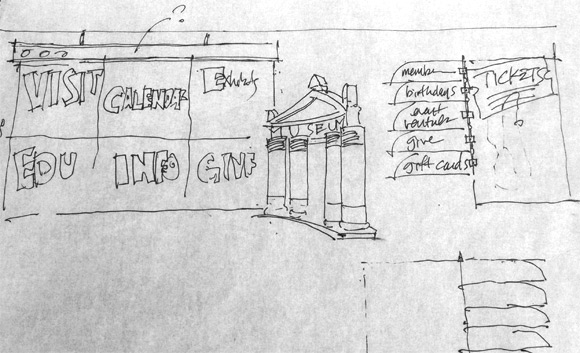 Concept Sketch for Children's Museum of Houston Website