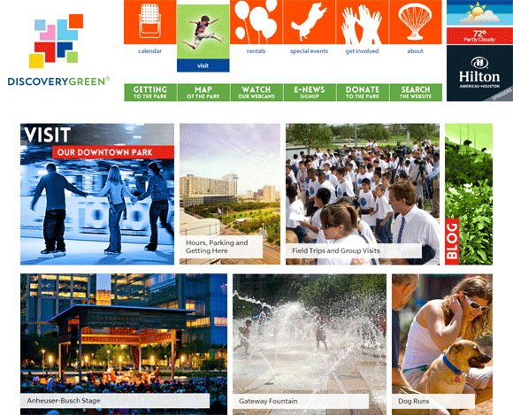 Discovery Green Website